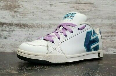 £18.19 • Buy Womens Etnies Sheckler 3 Athletic Shoes Sz 7.5 Used White Leather Read