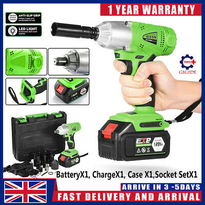 £45.99 • Buy Electric Cordless Impact Wrench Drill Gun Driver Tool 1/2  Ratchet Drive Sockets