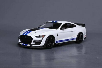 AU69.66 • Buy Maisto 2020 Ford Mustang Shelby GT500 Die Cast Car Model 1:18 Scale White New