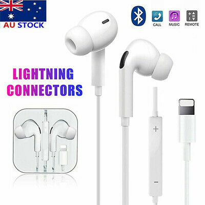 AU13.99 • Buy For Apple IPhone12 11 8 7 X Xs XR Wired 8pin Earphones Headphones Mic Bluetooth