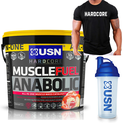 £49.95 • Buy USN Muscle Fuel Anabolic All-in-One Lean Muscle Gainer 4kg - Shaker + Shirt Free