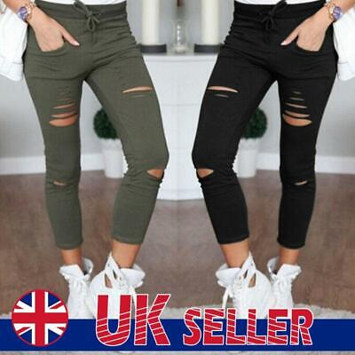 £6.99 • Buy Women's Ripped Skinny Stretchy High Waist Pants Denim Jeans Jeggings Trousers UK