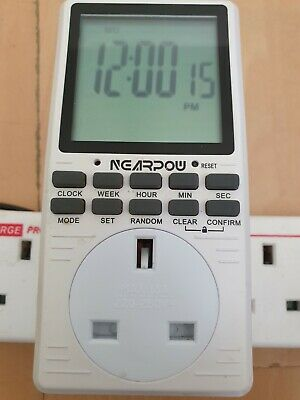 £16 • Buy NEARPOW DIGITAL ELECTRICAL TIMER OUTLET. Programmable Timer Switch For 24...