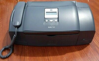£35.97 • Buy HP 1240 Fax Machine HOME PHONE Grey Power Wire Not Included Needs Ink WORK GREAT