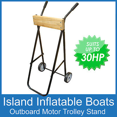 AU62.90 • Buy OUTBOARD MOTOR TROLLEY & STAND Suits Up To A 30hp - NEW - Protect Your Outboard