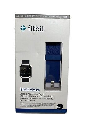 $ CDN17.15 • Buy Fitbit Blaze Replacement Wrist Watch Band - Silicone Strap Blue New - Size Small