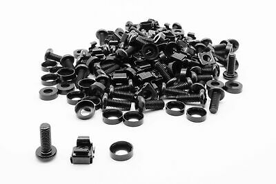 £5.99 • Buy 50 Pack Of M6 Black Cage Nuts And Bolts Screws Washers 19  Data Cabinet Rack