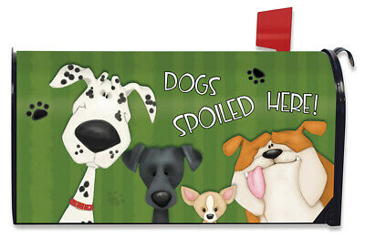 $16.99 • Buy Spoiled Dogs Magnetic Mailbox Cover Pets Bulldog Standard Briarwood Lane