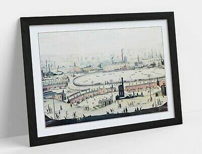 £12.99 • Buy Ls Lowry The Pond -framed Poster Wall Art Print Artwork- Grey