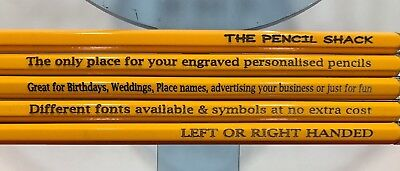 £9 • Buy 30 Wood HB Pencils Personalised With Name Or Message Weddings Christmas