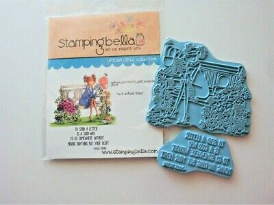 $11.99 • Buy Stamping Bella Uptown Girl Maybelline Loves Mail--2 Unmtd Rubber Stamps W Cling