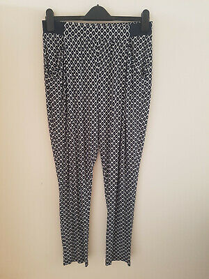 £10 • Buy Joules Ladies Navy Patterned Harem Trousers Size 12