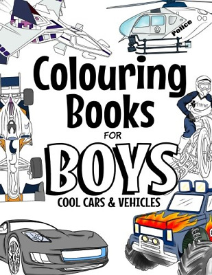 £6.68 • Buy Colouring Books For Boys Cool Cars And Vehicles: Cool Cars, Trucks, Bikes, Boats
