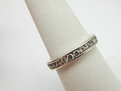 £20.70 • Buy Qvc Diamonique Dq Cz Eternity Sterling Silver 925 Band Ring Size: 5.75