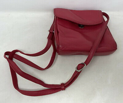 £7.99 • Buy Lloyd Baker Red Genuine Soft Leather Small Cross Body Hand Bag Pockets Accessory