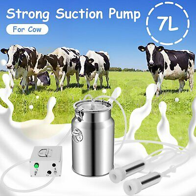 $102.99 • Buy Milking Machine Cow Goat Automatic Electric Upgraded Dual Heads Milker 7L 110V
