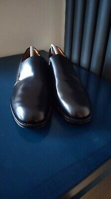 £89.98 • Buy Sanders Black Leather Slip On Shoes Size 8/42 *NEW* Hand Made In England