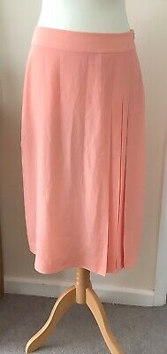£7.99 • Buy Jaeger Skirt 12 Midi Pale Orange Peach Lined Smart Casual Day Evening