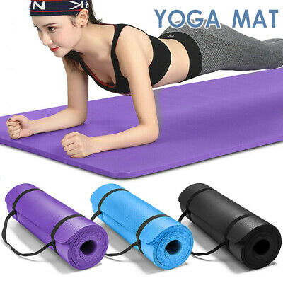 AU23.99 • Buy NBR Yoga Mat Pad Nonslip Exercise Fitness Pilate Gym Durable 10/15/20MM Thick