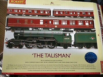 £165 • Buy HORNBY OO GAUGE THE TALISMAN SANDWICH & COACHES TRAIN PACK R2569 DCC Fitted Exce