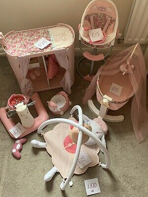 £100 • Buy Baby Annabelle Bundle- Cot, Changer/wardrobe, High Chair, Waker, Potty & Playmat