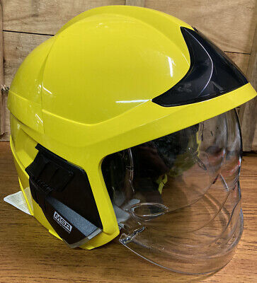 £260 • Buy Yellow MSA F1 XF Ex-Firefighter Helmet/Gallet With Lighting Module Size Large