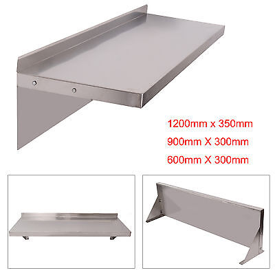 £44.19 • Buy 600/900/1200mm Stainless Steel Shelves Commercial Kitchen Clean Room Wall Shelf
