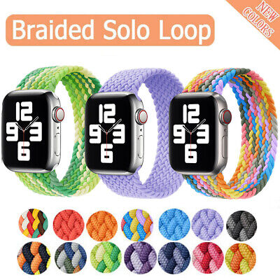 $ CDN6.21 • Buy Braided Solo Loop Nylon Band Strap For Apple Watch Series 6 5 4 3 SE 38/40/44MM