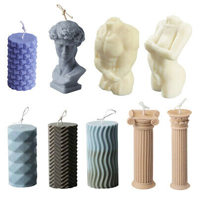 £3.09 • Buy Candle Moulds Silicone Human Body Roman DIY Mold Soap Making Wax Candle Column!