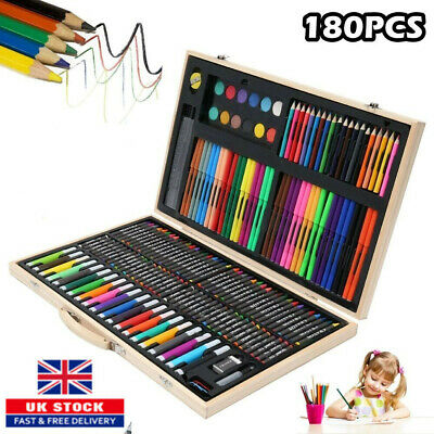 £14.59 • Buy 180pcs Art Set Deluxe Colouring Painting Drawing For Artists Children Kids AN