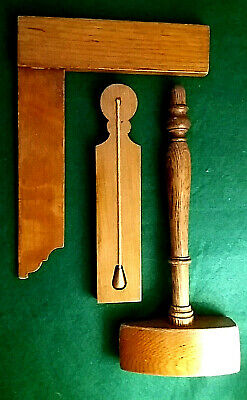 £73.90 • Buy Masonic Mid 19th Century Solid English Oak Working Tools  Cathedral  Style Gavel