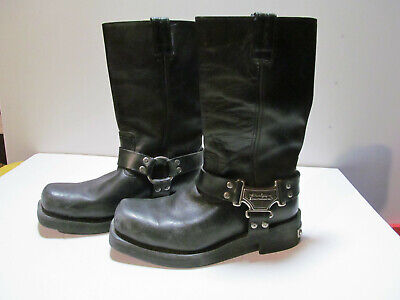 $ CDN50.34 • Buy Men's Black Leather Harley Davidson Boots 8 - VERY GOOD CONDITION - USED