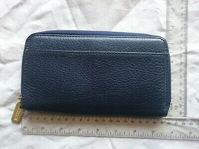 £19.98 • Buy COACH Navy Leather Large Purse Wallet