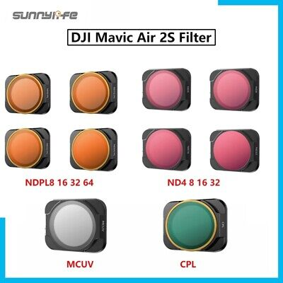 AU20.37 • Buy For DJI Mavic Air 2S CPL/ MCUV/ ND8 16 32 64PL Lens Filters Set Accessories