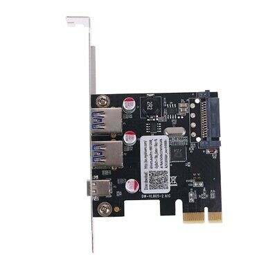 £12.82 • Buy PCIE PCI Express To USB 3.1 Type-C 2 Port USB 3.0 Type-A Riser Expansion Card