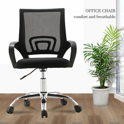 AU45.90 • Buy Black Office Chair Gaming Computer Mesh Chairs Executive Seating Black