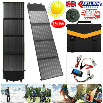 £106.99 • Buy 150w 18v Foldable Solar Panel Kit Mono Home Battery Charger Camping Rv Boat Car