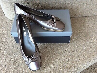 £22 • Buy Van Dal Ladies Shoes Wide Size 5.5 D. Pewter/ Gold Metallic. New/Never Worn.