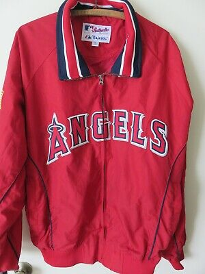 $59.99 • Buy Authentic Vtg Majestic Collection Anaheim Angels Red Bomber Jacket Mens Sz XL