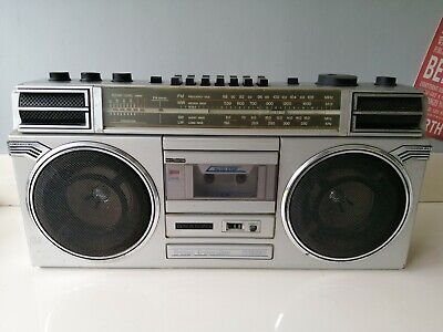 £40 • Buy VINTAGE SANYO M9927LG 4 BAND STEREO RADIO CASSETTE RECORDER BOOMBOX  - Working!