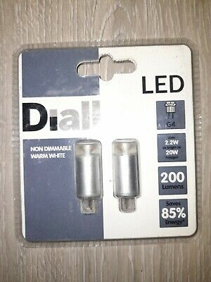 £1 • Buy Diall G4 2.2W 20W Equivalent Non-Dimmable LED Light Bulb Warm White Pack Of 2