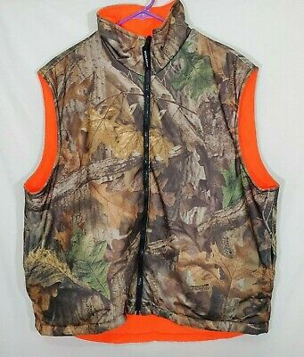£26.35 • Buy Woolrich Hunting Vest Advantage Timber Camo Orange Size L Reversible Insulated