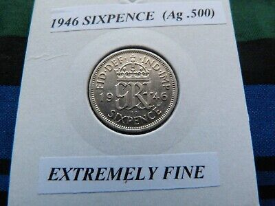£1.99 • Buy EXTREMELY FINE? 1946 SIXPENCE  (Silver .500)  George VI Pre 1947