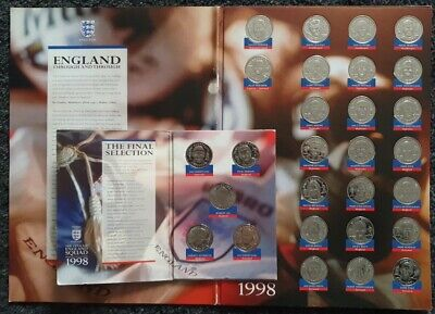 £18 • Buy The Official England 1998 World Cup Medal Coins - Complete Set, The Final Five.