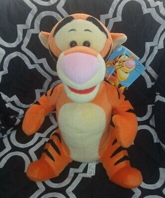 £10 • Buy NEW With Tags 2003 Disney 12  Plush 'Tigger' From Winnie The Pooh Soft Toy Teddy