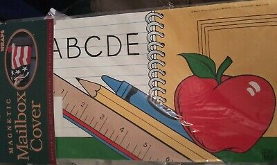 $12 • Buy Magnetic Mailbox Cover USA Back To 🏫 School ABC 🍎 Apple Teacher NEW In Package
