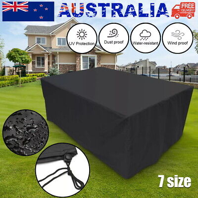 AU17 • Buy Outdoor Furniture Covers Waterproof Patio Table Sofa Chair UV Dust Proof Cover