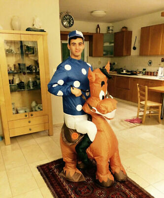 £42.60 • Buy Jockey Fancy Dress Inflatable Costume Adult Blow Up Suit Party Gift Horse Outfit