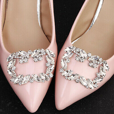 £6.83 • Buy 2pcs Women Rhinestone Decorative Shoes Clips Jewelry Charms Shoes