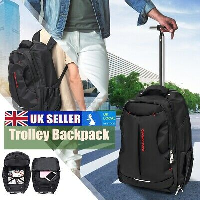 £23.88 • Buy Wheeled Backpack Cabin Laptop Computer Suitcase Trolley Hand Luggage Case Bag